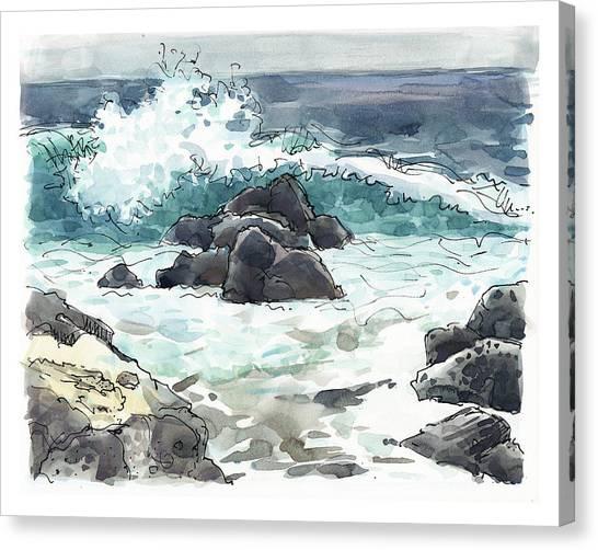 Wawaloli Beach, Hawaii Canvas Print