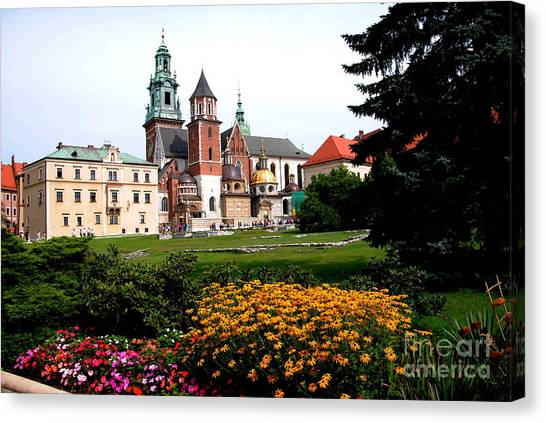 Wawel Cathedral In Krakow Canvas Print by Jacqueline M Lewis