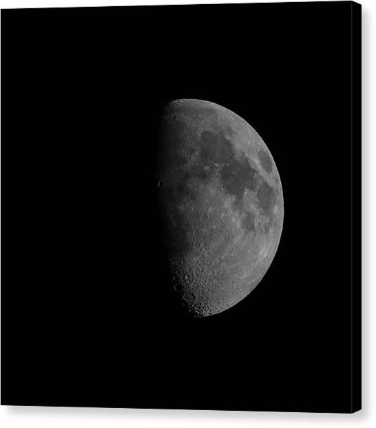 Waxing Gibbous Canvas Print - Waxing Gibbous Moon by Ernie Echols