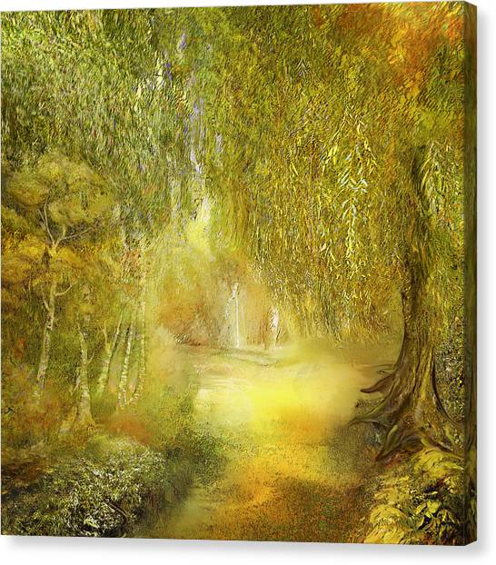 Weeping Willows Canvas Print - Way Of Thoughts by Anne Weirich