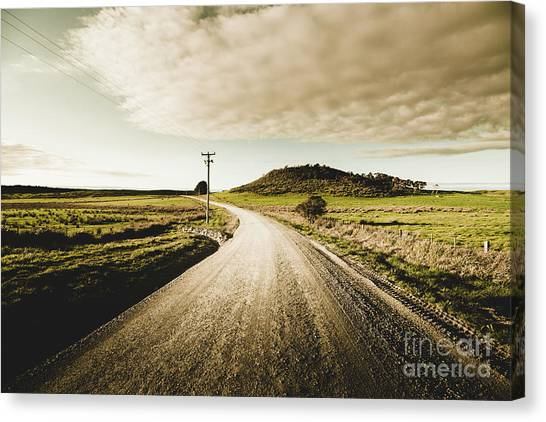 Dirt Road Canvas Print - Way Out Yonder by Jorgo Photography - Wall Art Gallery