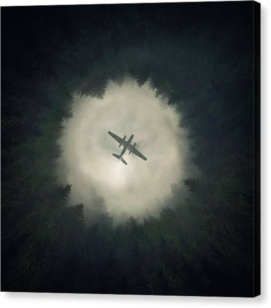 Aircraft Canvas Print - Way Out by Zoltan Toth
