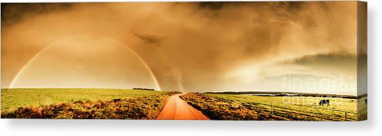 Dirt Road Canvas Print - Way Outback by Jorgo Photography - Wall Art Gallery