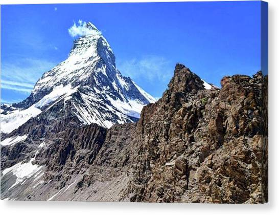 Matterhorn Canvas Print - Way To Hörunli by Tomoya Habu