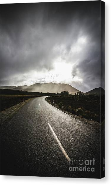 Touring Canvas Print - Way To Strathgordon by Jorgo Photography - Wall Art Gallery