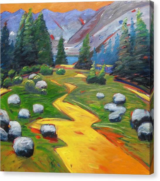 Way To The Lake Canvas Print