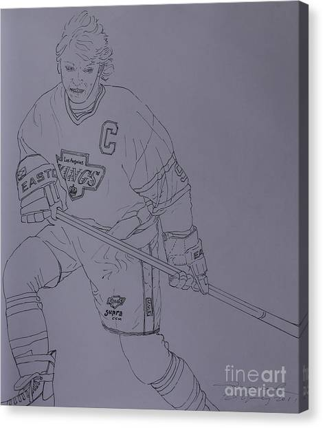 Wayne Gretzky Canvas Print - Wayne by Amanda Li