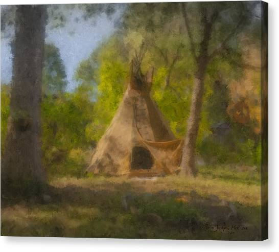 Wayne And Karen's Teepee Canvas Print