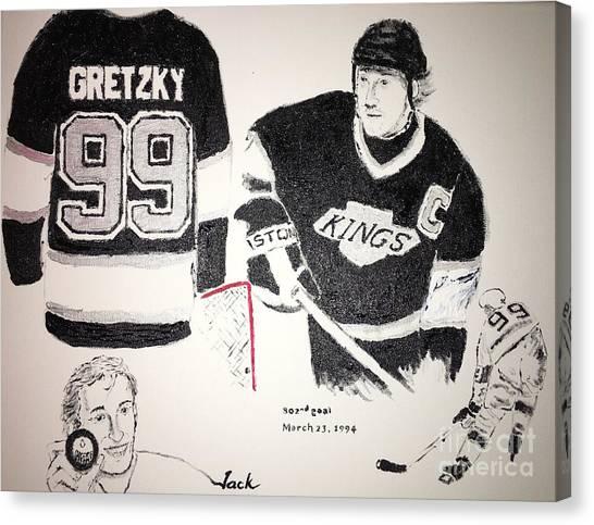 Wayne Gretzky Canvas Print - Wayne Gretzky by Jack Bunds