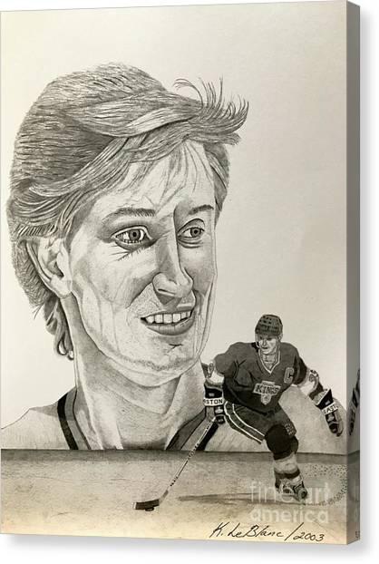 Wayne Gretzky Canvas Print - Wayne Gretzky by Kevin LeBlanc