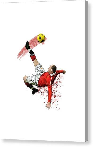Wayne Rooney Canvas Print - Wayne Rooney by Armaan Sandhu