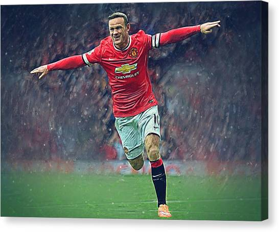 Mls Canvas Print - Wayne Rooney by Semih Yurdabak