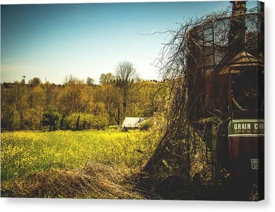 Brown Ranch Trail Canvas Print - Forgotten Farmlands by Howard Roberts