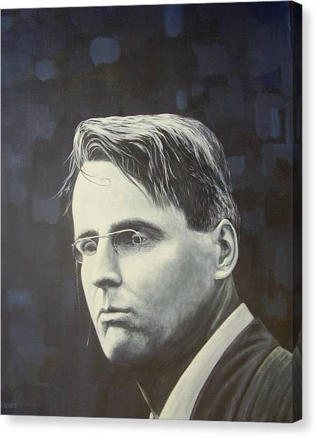 W.b. Yeats Canvas Print by Eamon Doyle