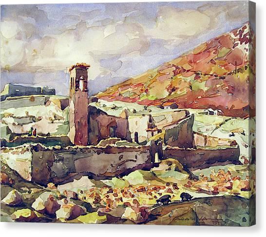 Bolivian Canvas Print - Wb1955bo001 Landscape Of Potosi 11.5x9 by Alfredo Da Silva