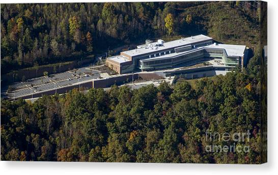 Graduate Degree Canvas Print - Wcu Health And Human Sciences Building by David Oppenheimer