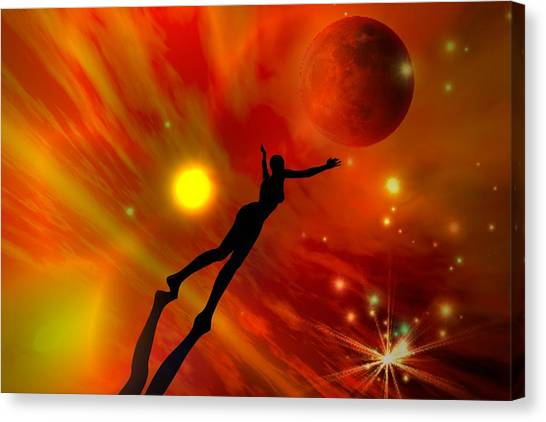 We All Shine On Like The Moon And The Stars And The Sun Canvas Print by Shadowlea Is