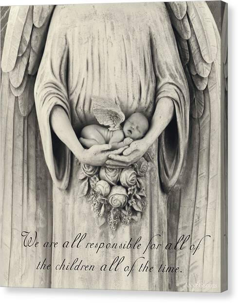 Love Canvas Print - We Are All Responsible by Anne Geddes