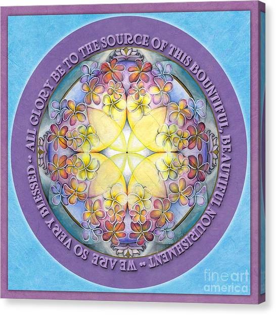 We Are Blessed Mandala Prayer Canvas Print