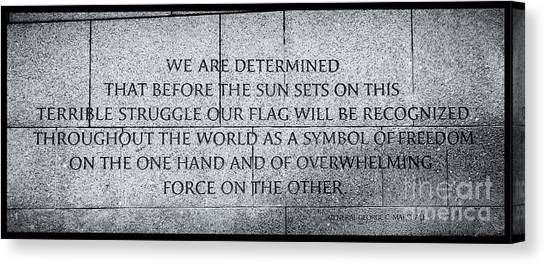 We Are Determined...... Canvas Print
