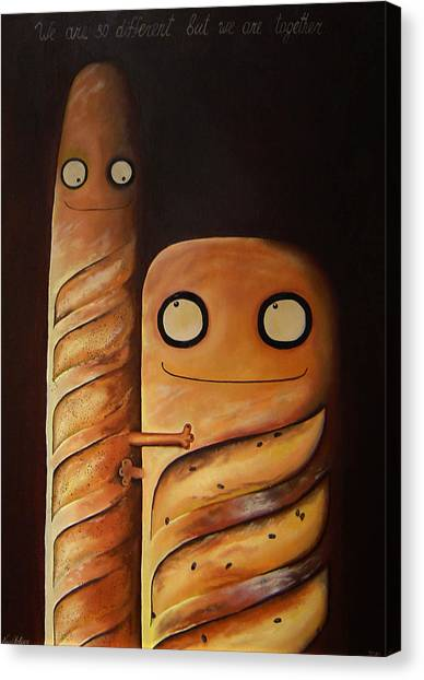 We Are So Different But We Are Together Canvas Print by Anastassia Neislotova