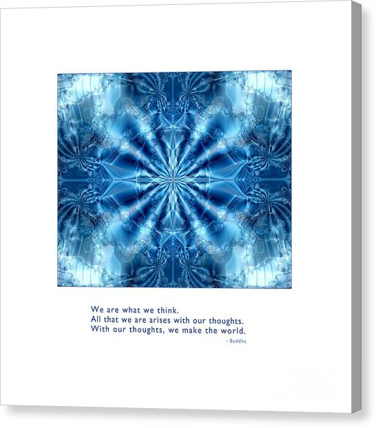 Canvas Print featuring the digital art We Are What We Think by Kristen Fox