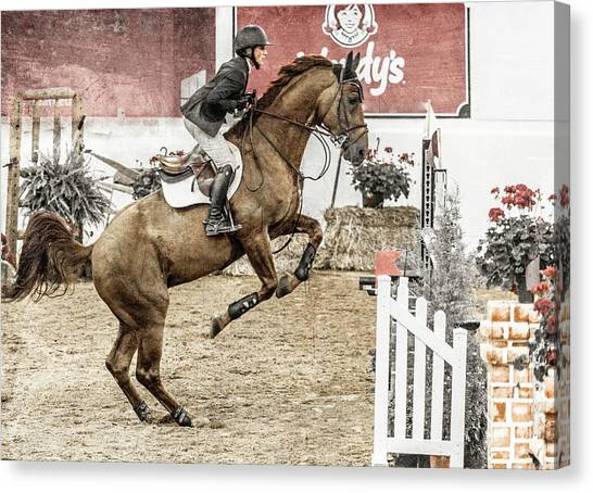 Warmblood Canvas Print - We Are Winners by Betsy Knapp