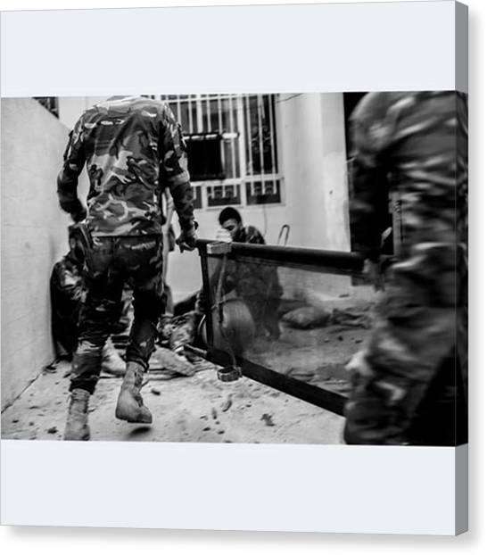 Syrian Canvas Print - We Came Under Fire By #islamicstate by Jan Husar