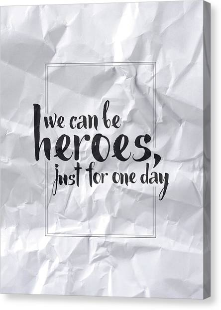 David Bowie Canvas Print - We Can Be Heroes by Samuel Whitton