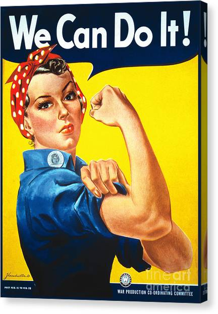 We Can Do It Rosie The Riveter Poster Canvas Print