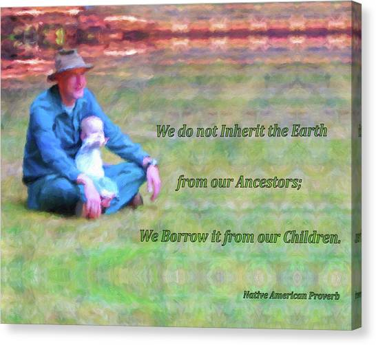 We Do Not Inherit The Earth - V3 Canvas Print