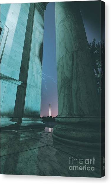 Washington Monument Canvas Print - We Hold These Truths by Rami Ruhman