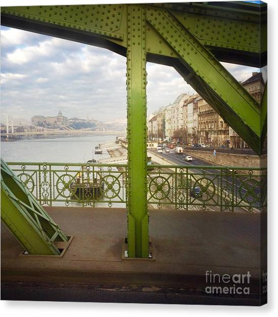 We Live In Budapest #4 Canvas Print