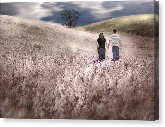 We Made Love Under The Tree Canvas Print