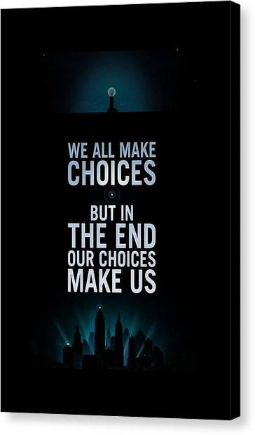 Bioshock Canvas Print - We Make Choice by Lindri Lendiran