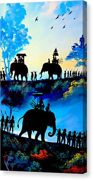 We March At Sunrise  Canvas Print