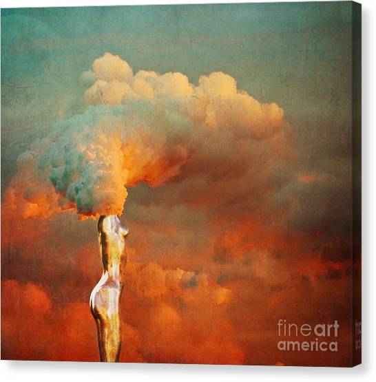 Pollution Canvas Print - We by Jacky Gerritsen