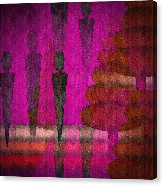 We Stand In The Shadows Canvas Print by Terry Mulligan