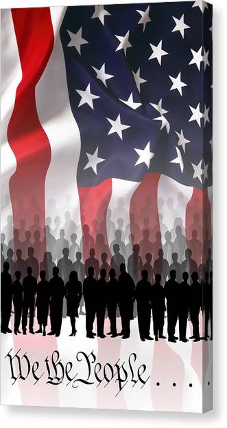 National Guard Canvas Print - We The People . . . by Daniel Hagerman