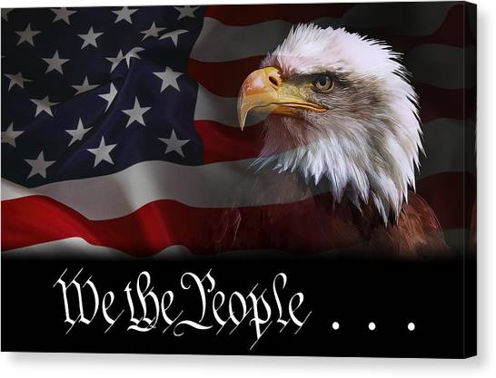 Libertarian Canvas Print - We The People . . . Of The United States Of America by Daniel Hagerman