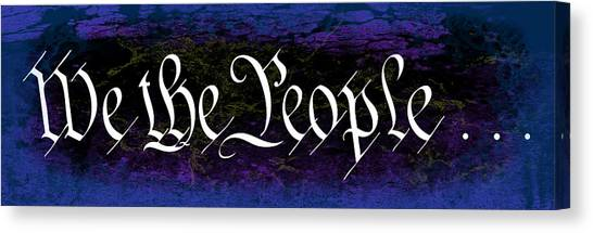 Libertarian Canvas Print - We The People Grunge by Daniel Hagerman