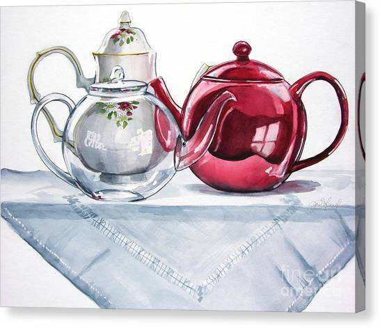 We Three Teapots Canvas Print