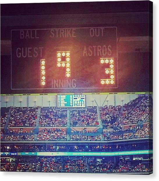 Houston Astros Canvas Print - We Won!!! 💫⚾️astros !!! #astros by Abigail Winard