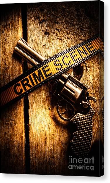 Pistols Canvas Print - Weapon Forensics by Jorgo Photography - Wall Art Gallery