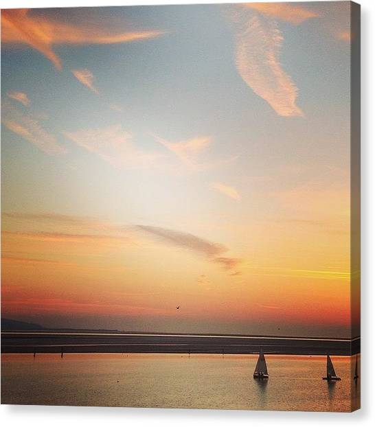 Kirby Canvas Print - Sunset Sailing by Helen Smith