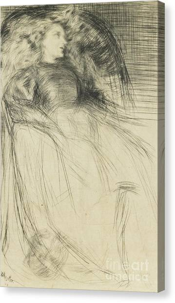 Long Hair Canvas Print - Weary by James Abbott McNeill Whistler