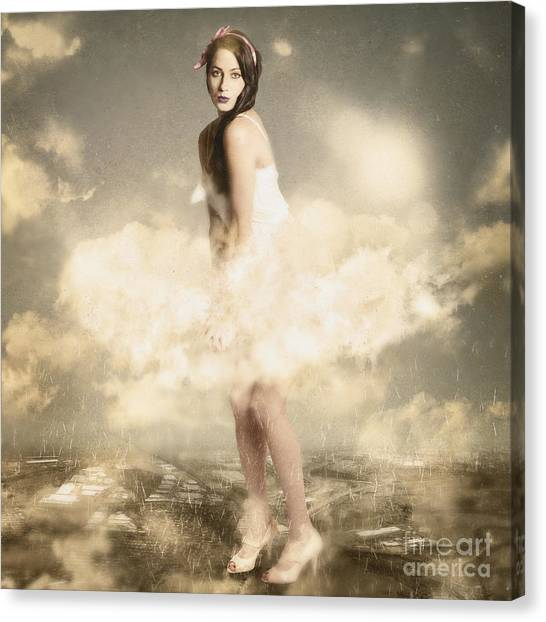 Creative Manipulation Canvas Print - Weather Giants May Roam by Jorgo Photography - Wall Art Gallery