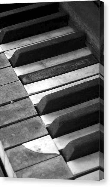 Weathered Music Canvas Print