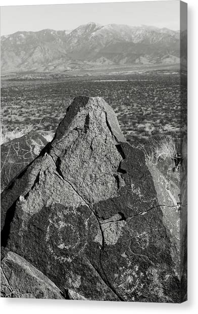 Weathered Peaks Canvas Print by Joseph Smith