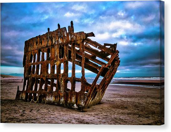 Peter Iredale Canvas Print - Weathered Shipwreck by Garry Gay